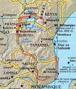 Map Of Africa Lake Victoria.Robert Munro Africa